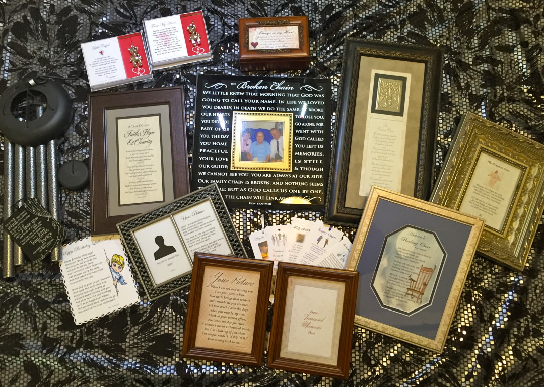 retail products featuring poetry of Ron Tranmer